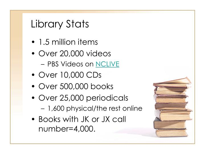 Library stats