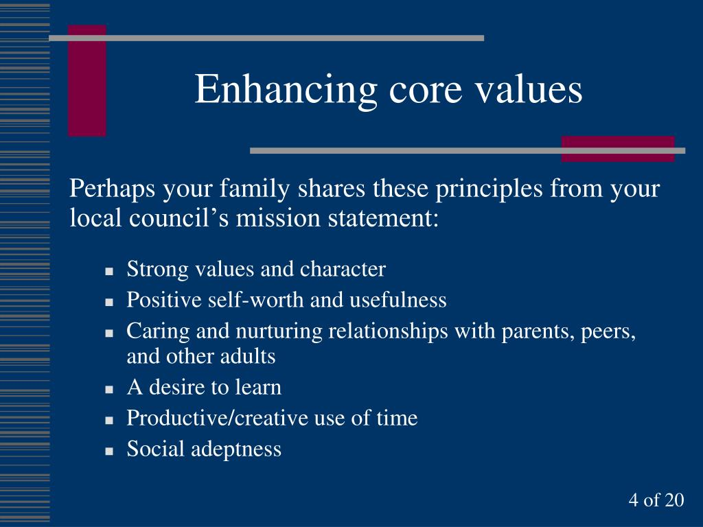 Enhancing core values