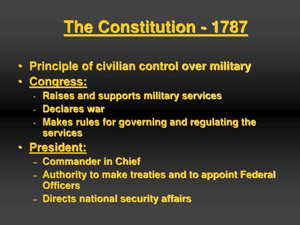 The Constitution - 1787