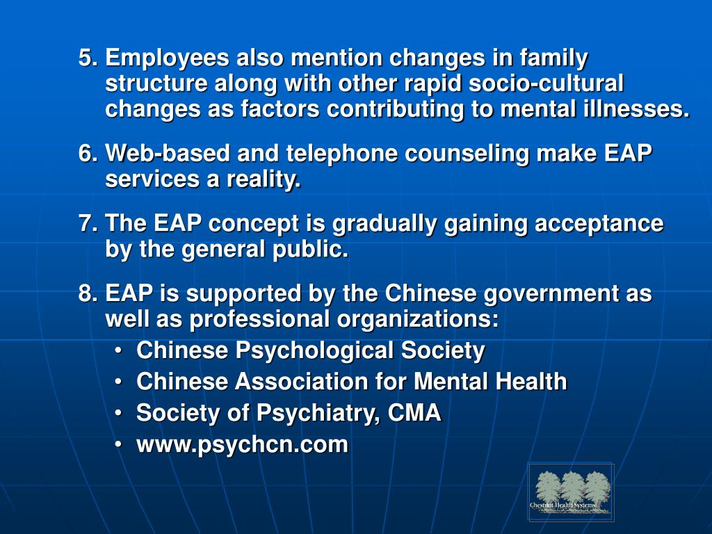 5. Employees also mention changes in family structure along with other rapid socio-cultural changes as factors contributing to mental illnesses.