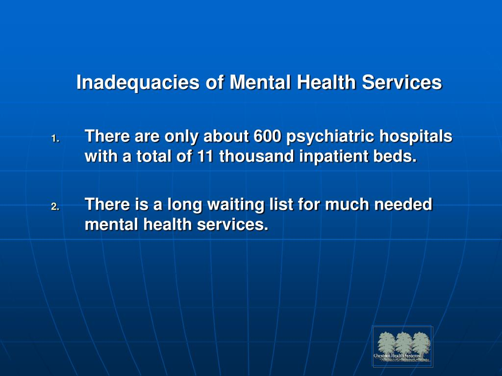 Inadequacies of Mental Health Services