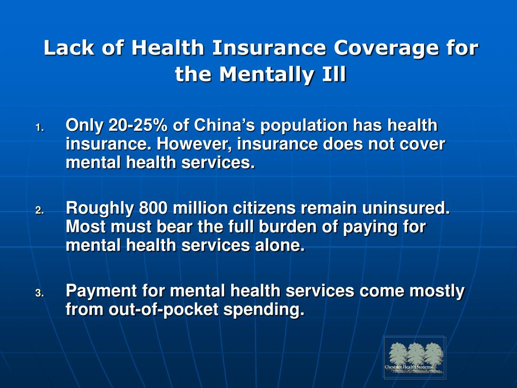 Lack of Health Insurance Coverage for