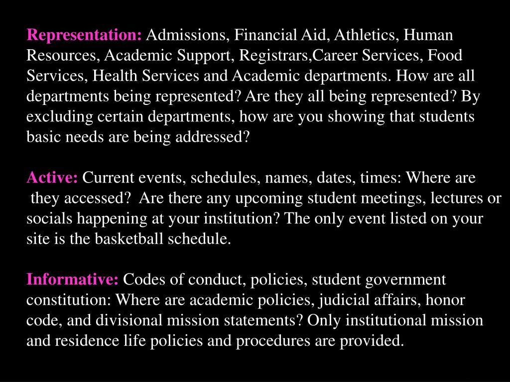 Representation: