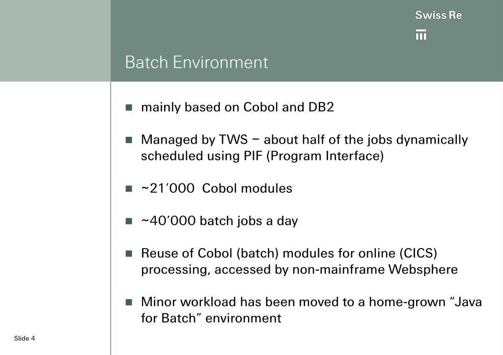 Batch Environment