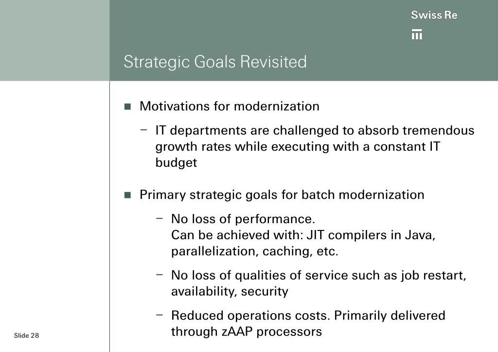 Strategic Goals Revisited