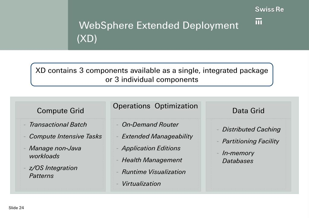 WebSphere Extended Deployment (XD)