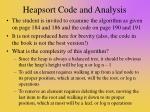 heapsort code and analysis