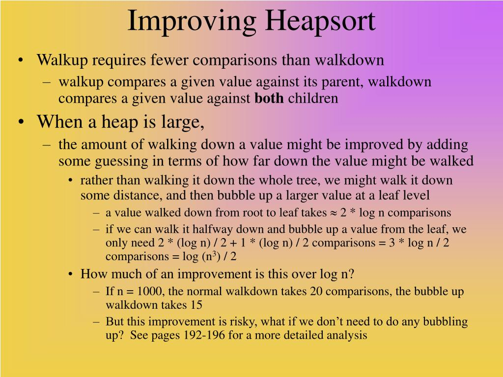 Improving Heapsort