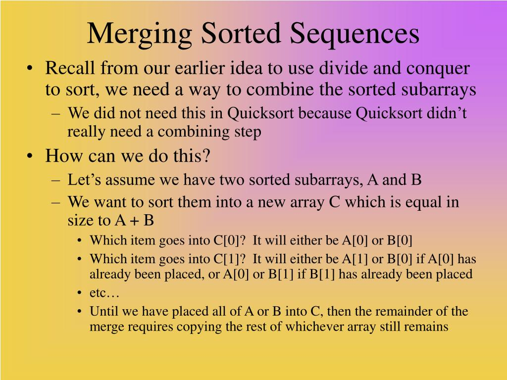 Merging Sorted Sequences