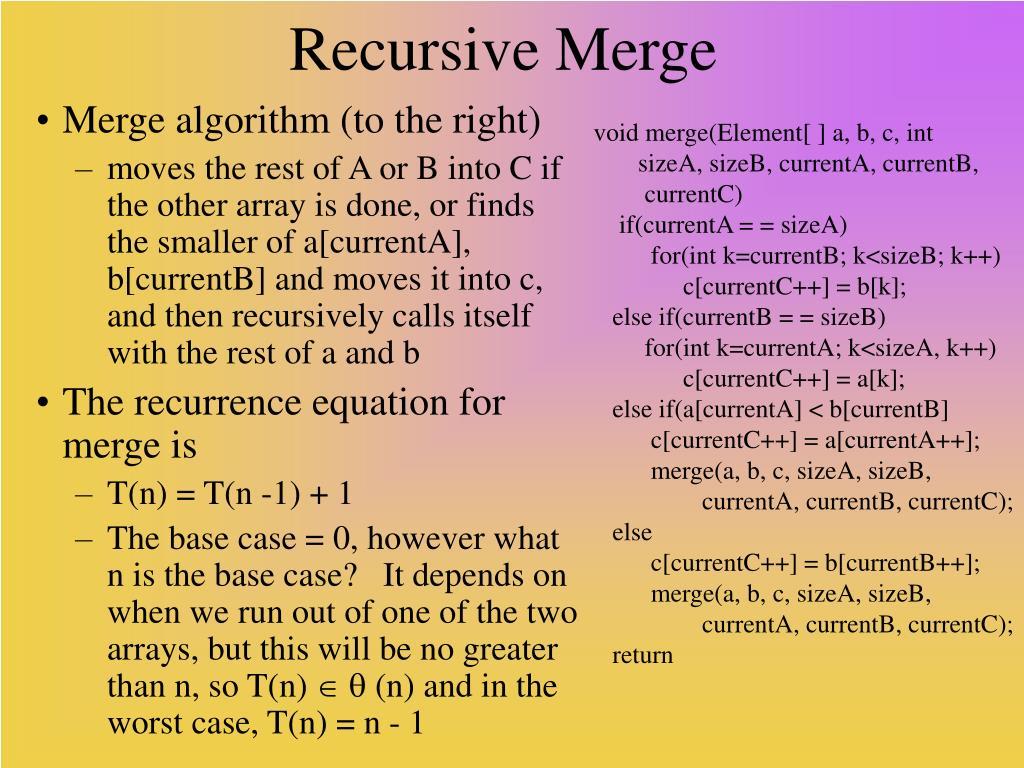 Recursive Merge