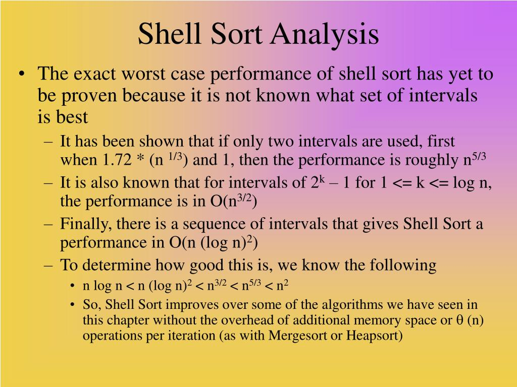 Shell Sort Analysis