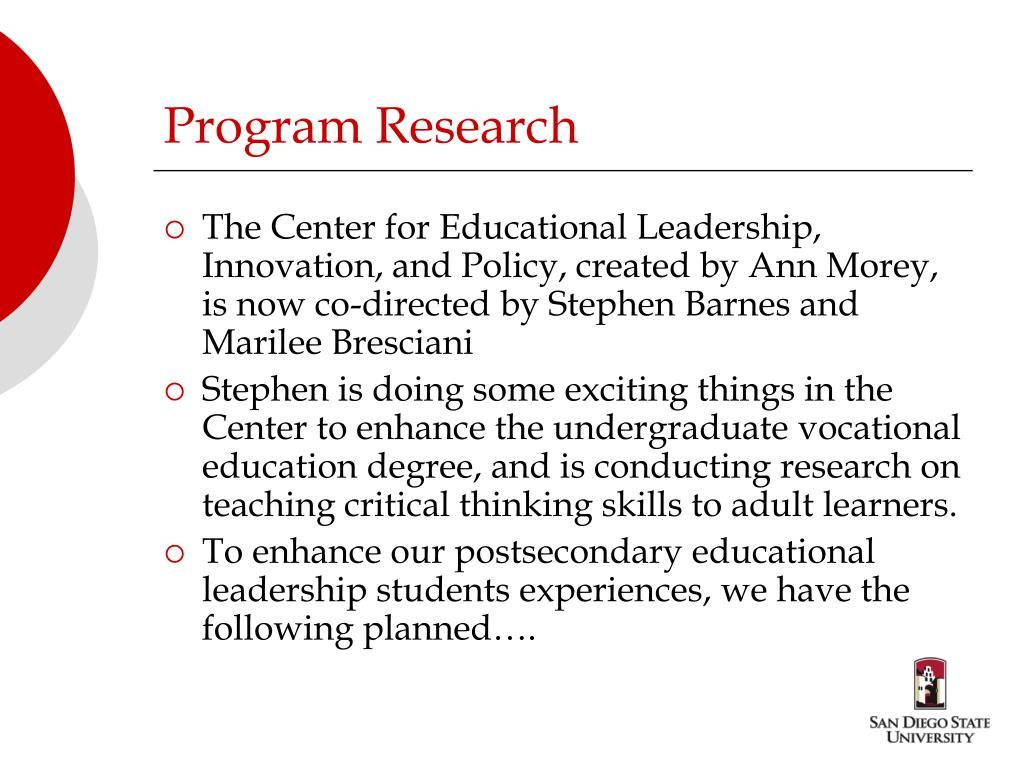 Program Research