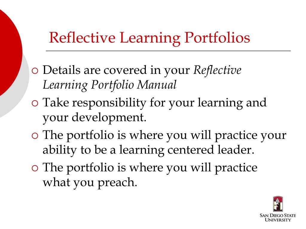 Reflective Learning Portfolios