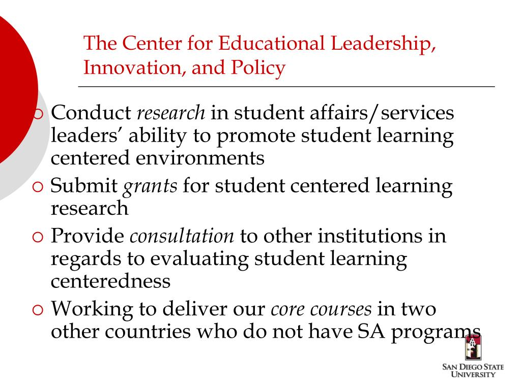 The Center for Educational Leadership, Innovation, and Policy