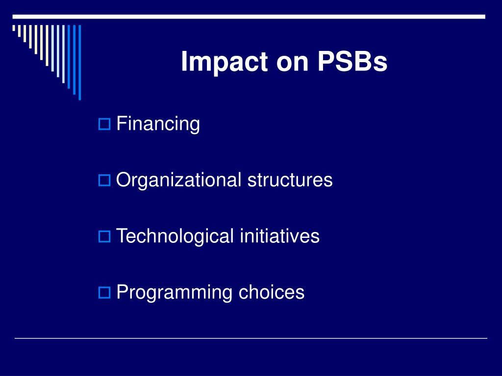 Impact on PSBs