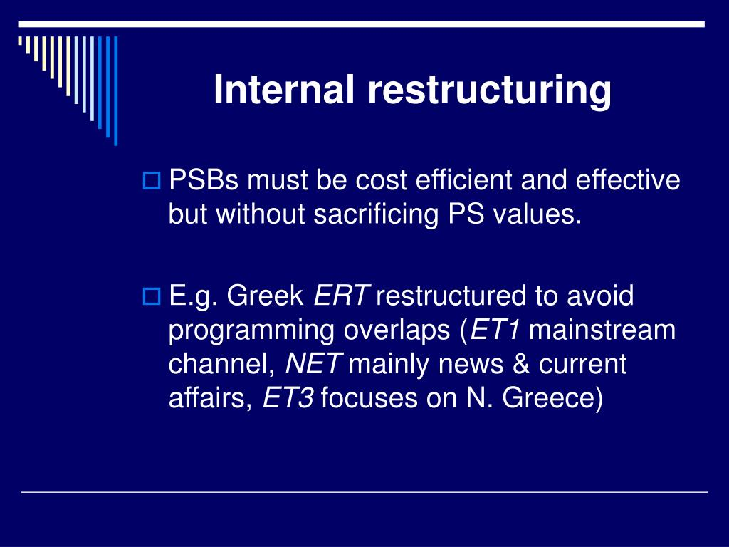 Internal restructuring