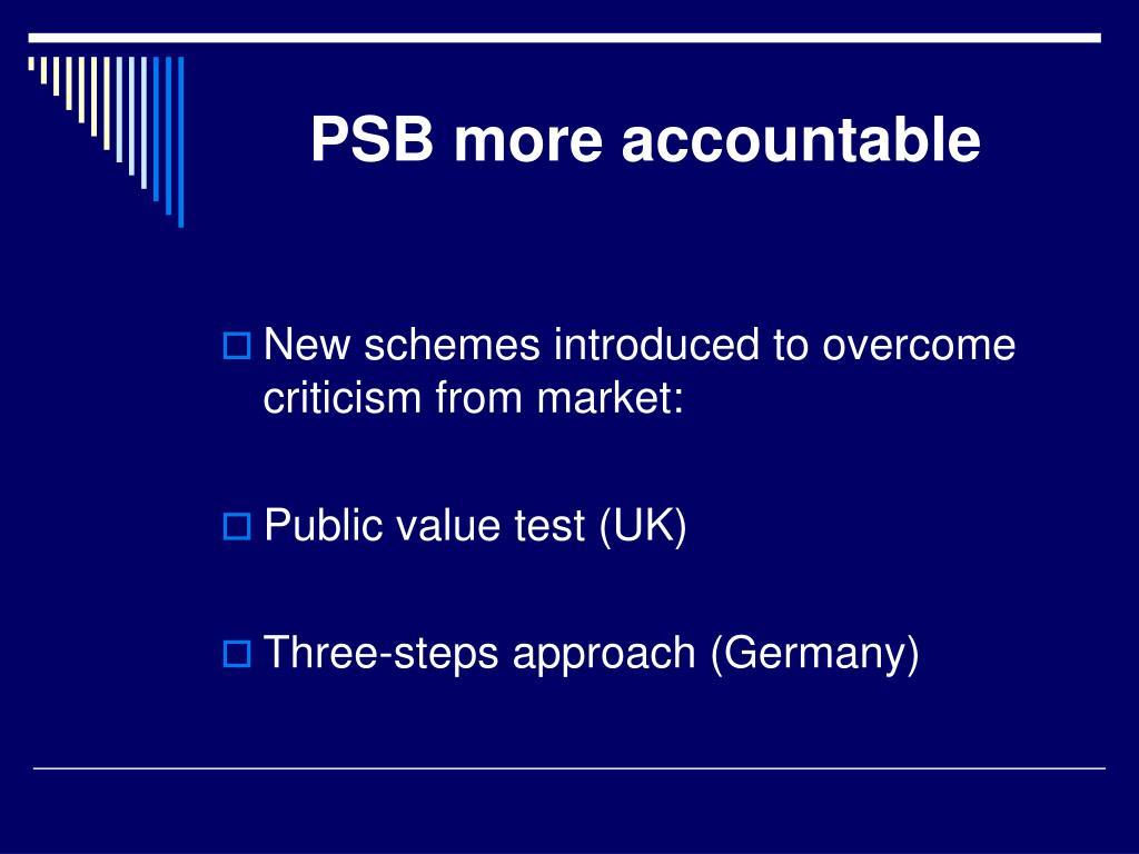PSB more accountable
