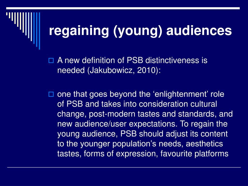 regaining (young) audiences