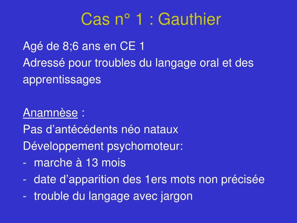 Cas n° 1 : Gauthier