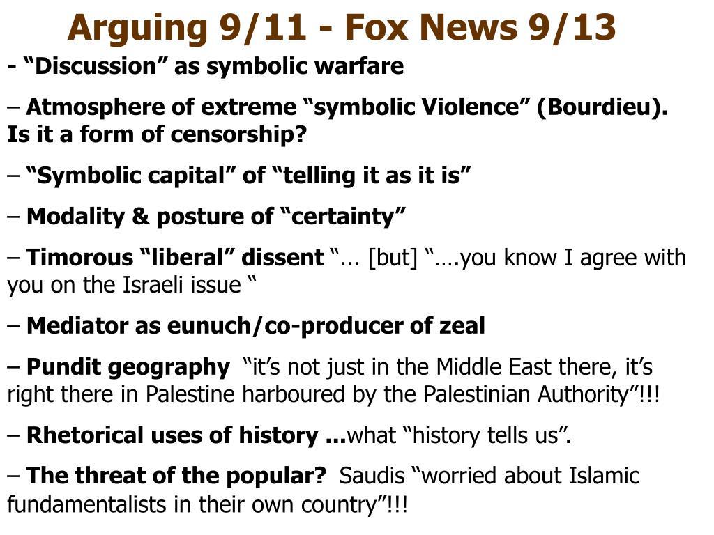 """- """"Discussion"""" as symbolic warfare"""