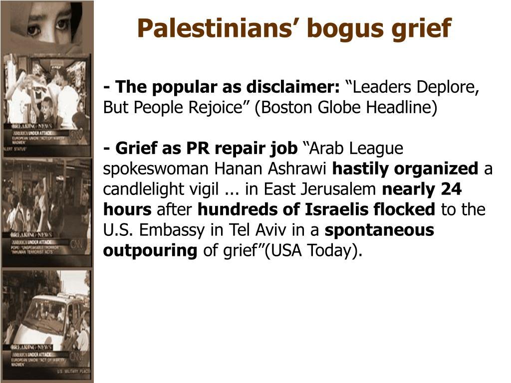 Palestinians' bogus grief