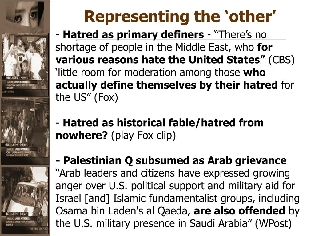 Representing the 'other'