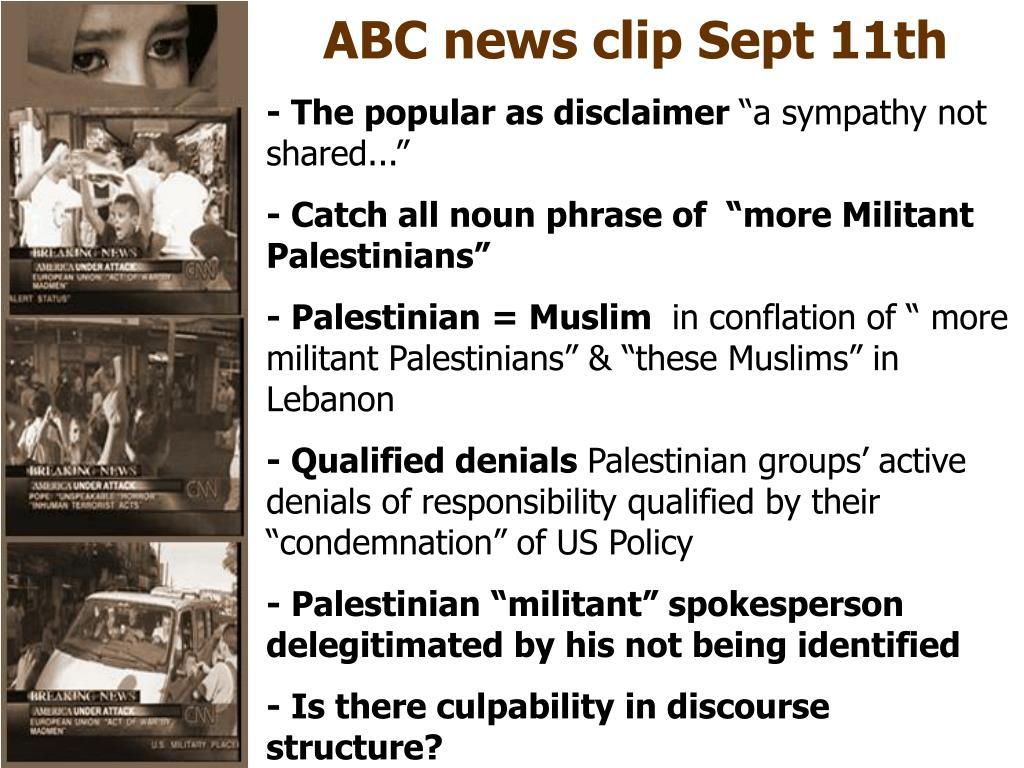 ABC news clip Sept 11th