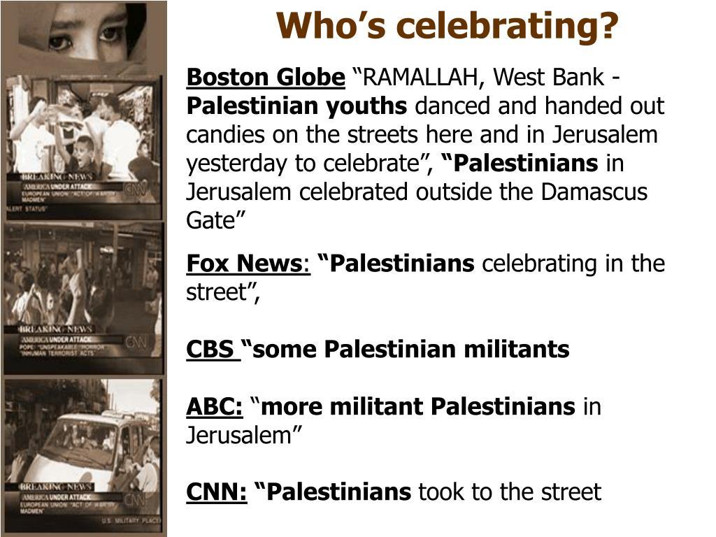 Who's celebrating?