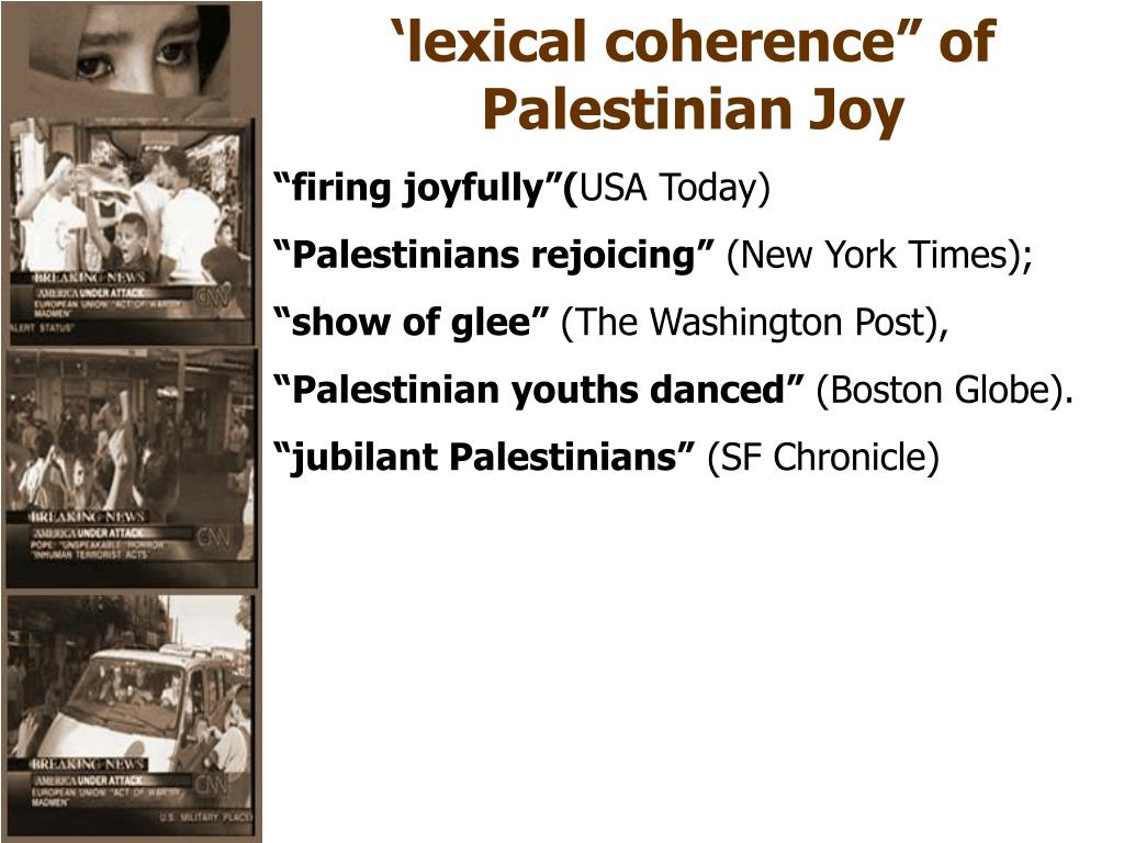 """'lexical coherence"""" of"""