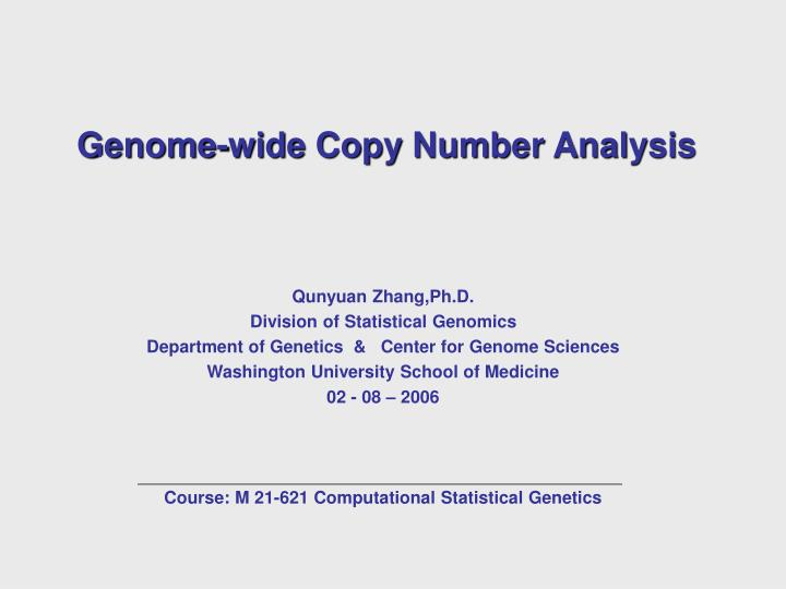 Genome wide copy number analysis l.jpg