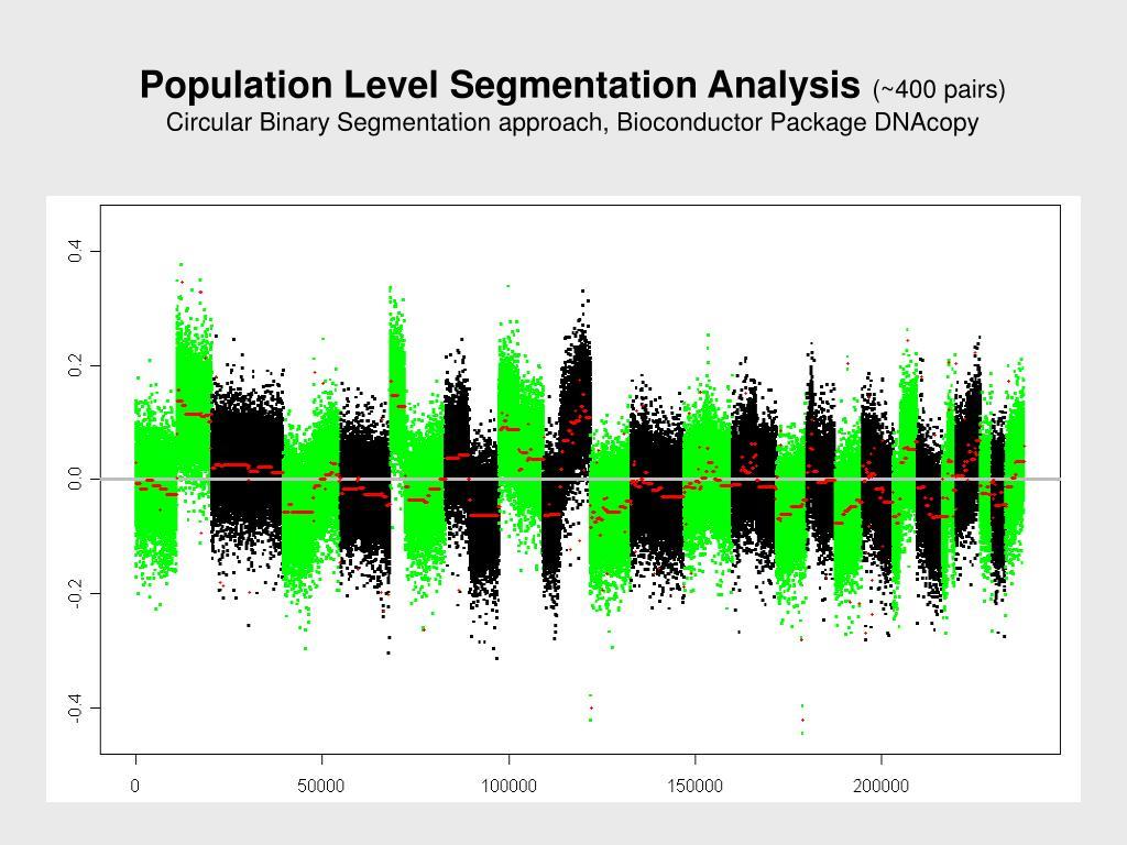 Population Level Segmentation Analysis