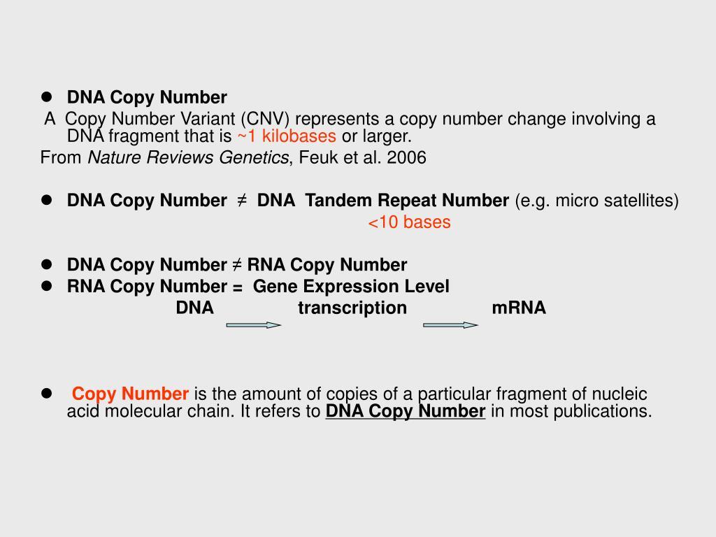DNA Copy Number