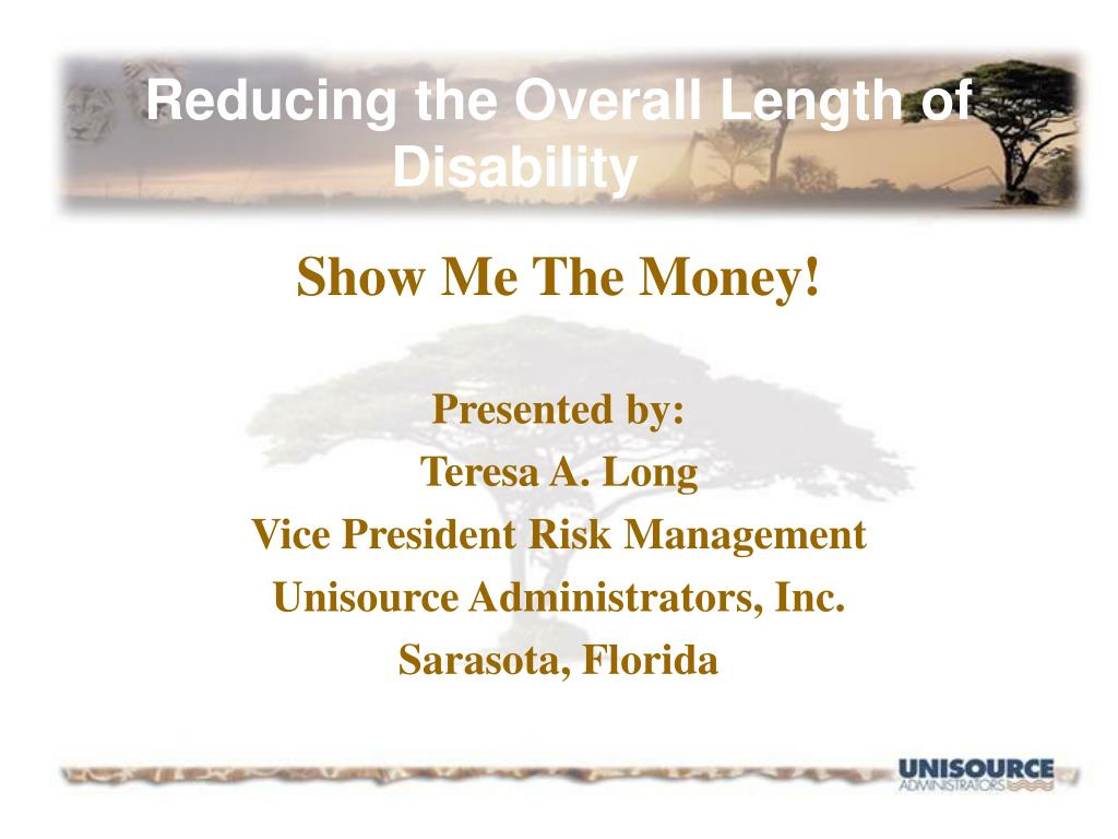 Reducing the Overall Length of Disability
