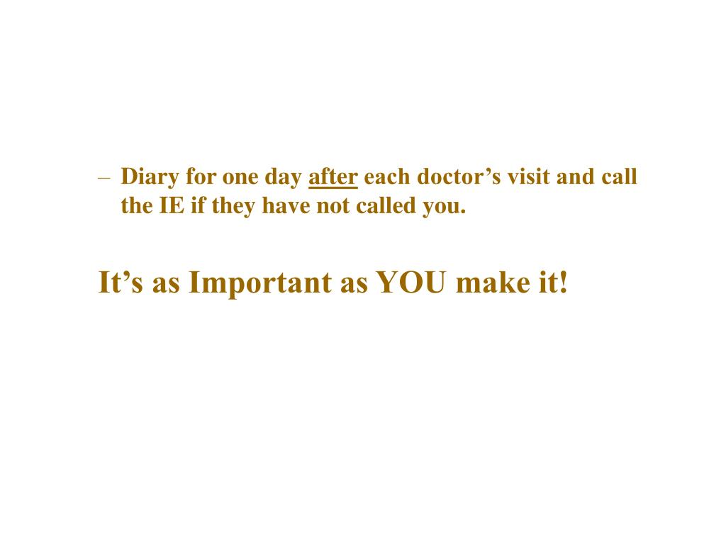 Diary for one day