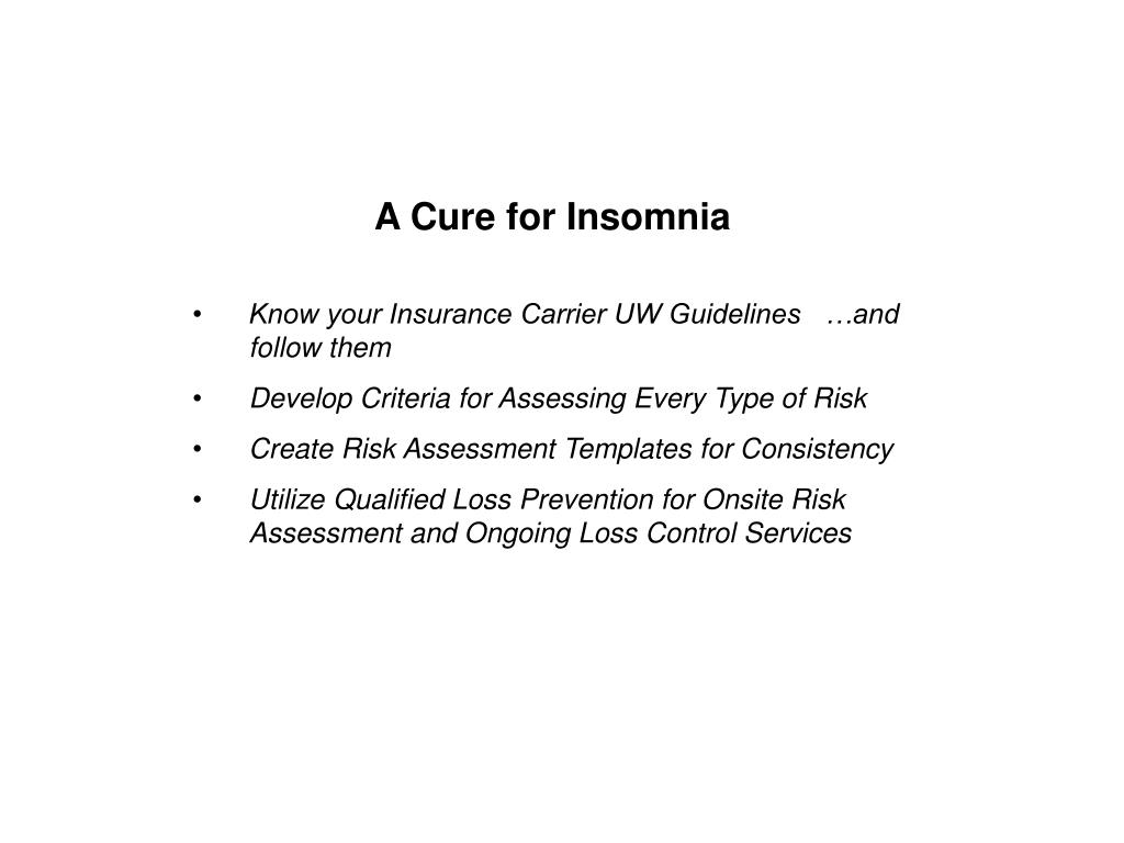 A Cure for Insomnia