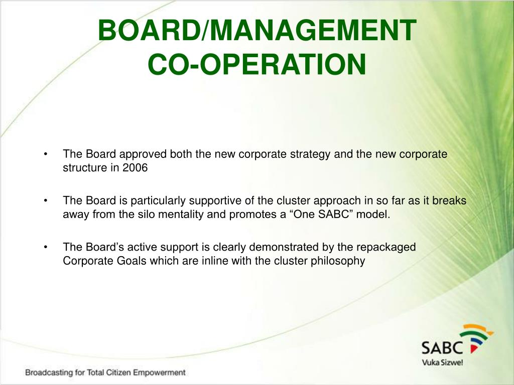 BOARD/MANAGEMENT