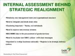 internal assessment behind strategic realignment