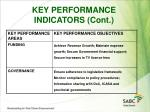key performance indicators cont