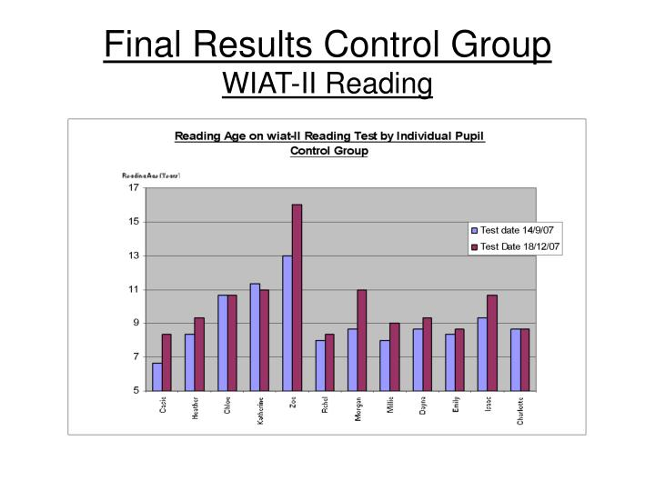 Final Results Control Group