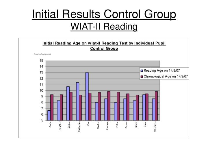 Initial Results Control Group