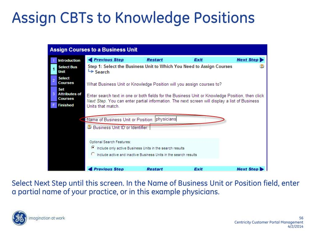 Assign CBTs to Knowledge Positions