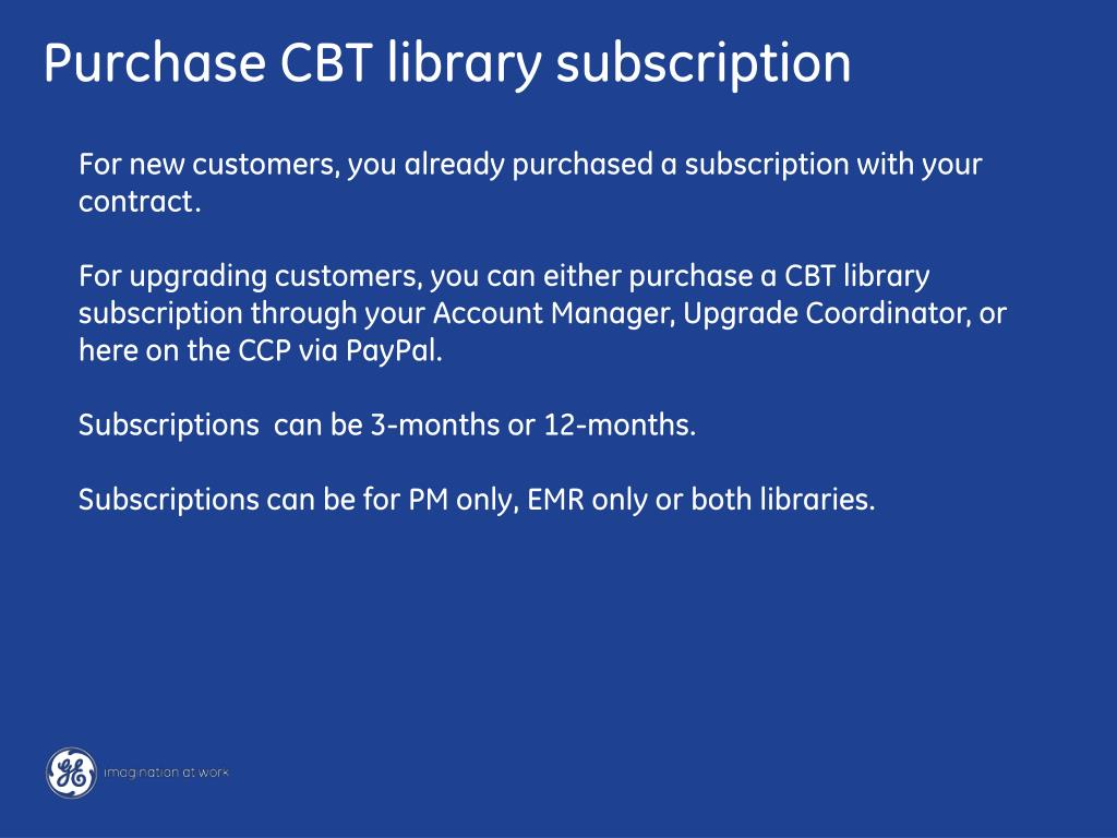 Purchase CBT library subscription