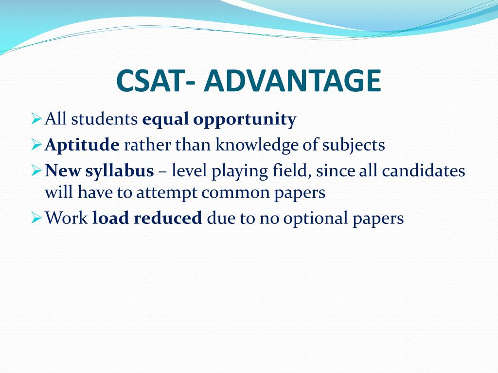 CSAT- ADVANTAGE