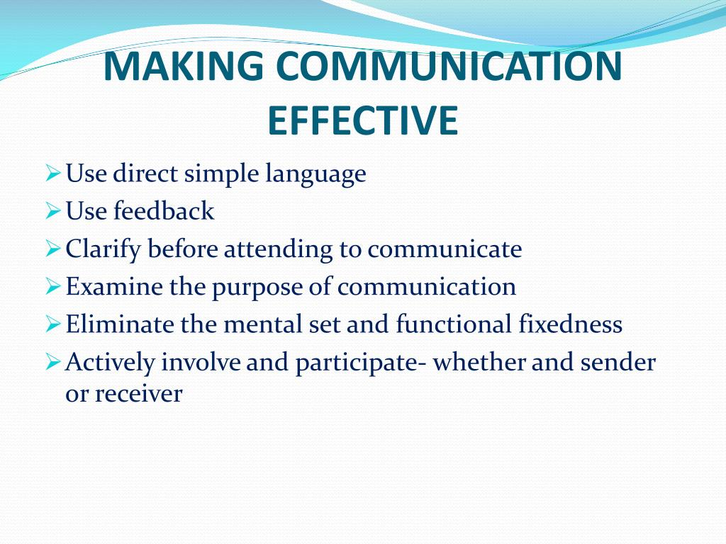 MAKING COMMUNICATION EFFECTIVE