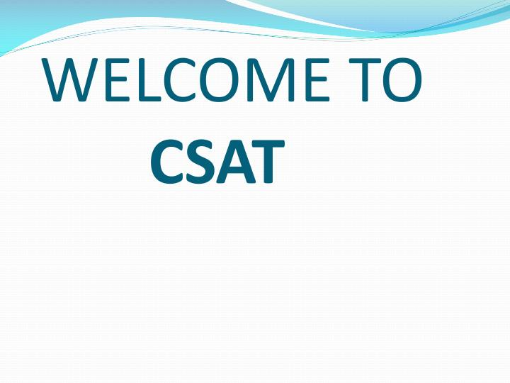 Welcome to csat