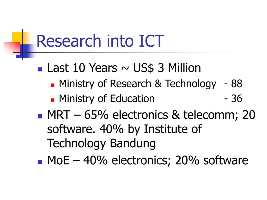 Research into ICT