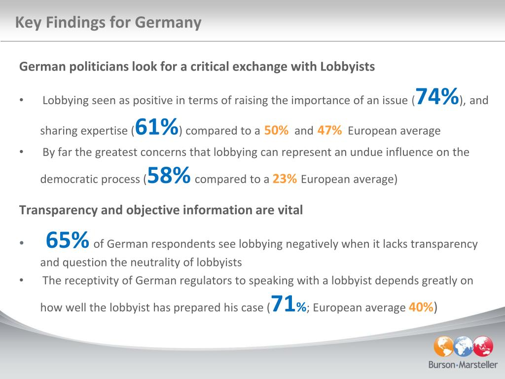 Key Findings for Germany