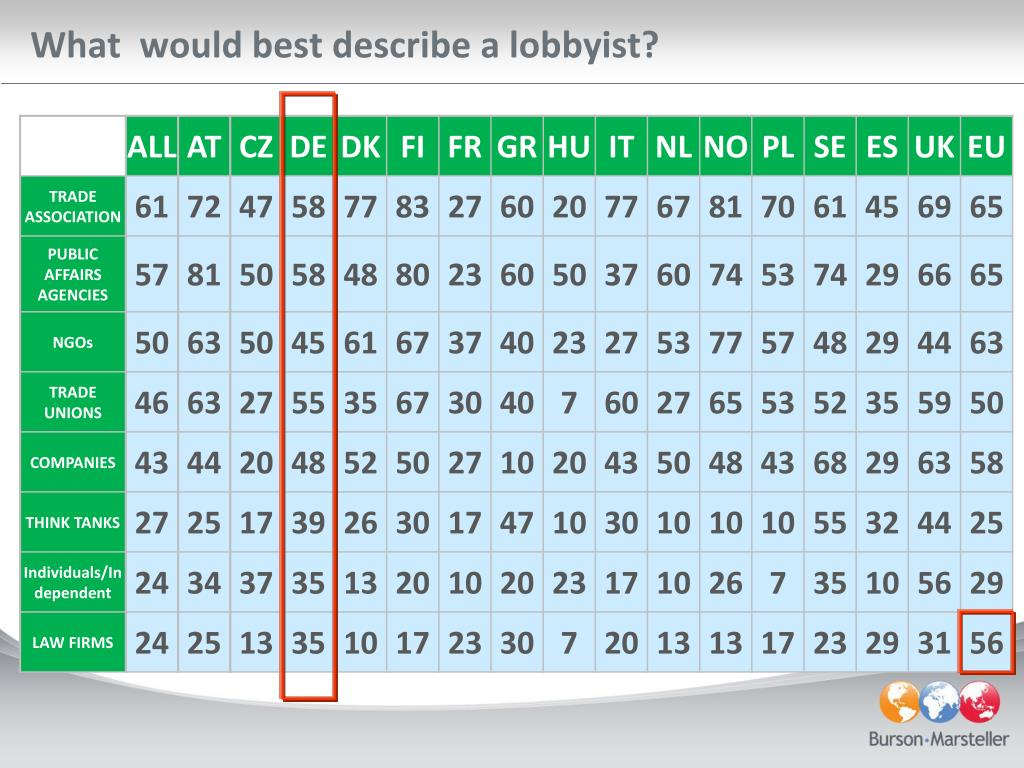 What  would best describe a lobbyist?