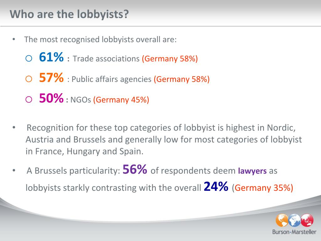 Who are the lobbyists?