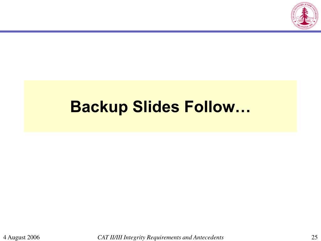 Backup Slides Follow…